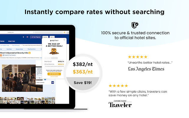 Gopher: Cash Back from Hotels + See Discounts