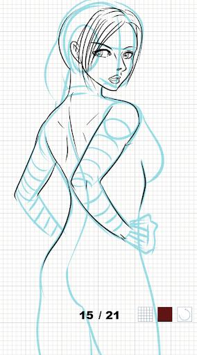 How to draw female body  screenshots 7