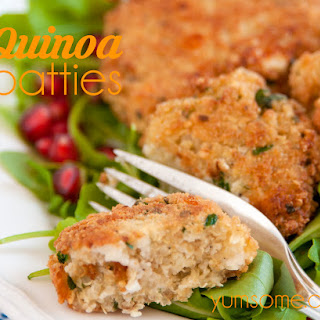 Easiest Quinoa and Cheese Patties