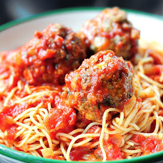 Spaghetti With Ground Beef Meatballs Recipes.
