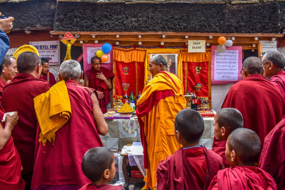 monks+monastery+key+Spiti+valley+himachal+india