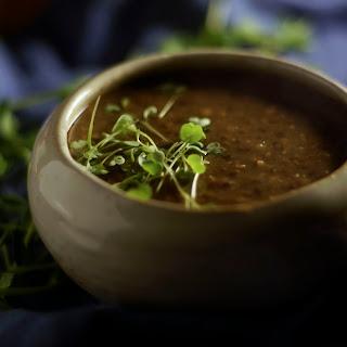 Ethiopian Beluga Lentil Stew.