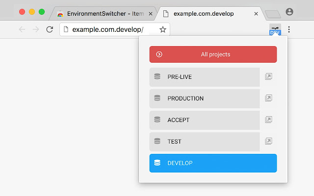 Environment Switcher