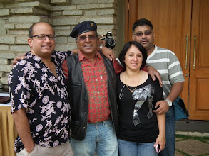Photo: Mathew V, Anil Mani from Mumbai, Debbie Fox and Vikram Chittaranjan