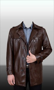 Men Leather Jacket Photo Suit screenshot 7