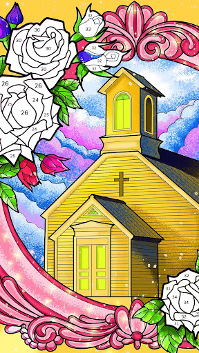 Bible Coloring - Paint by Number, Free Bible Games 2.5.2 screenshots 7