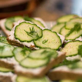 Cucumber and Mint Tea Sandwiches.