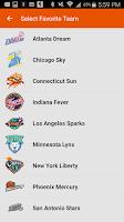 Screenshot of WNBA