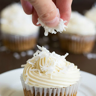 Gluten-Free Carrot Cake Cupcakes with Cream Cheese Frosting.