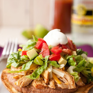 Chicken Tostadas with Slow Cooker Chicken