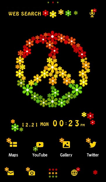 Reggae wallpaper-Peace Flowers Android App Screenshot