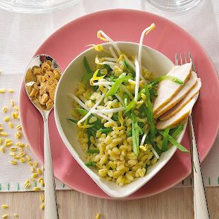 Zartweizensalat mit Sprossen