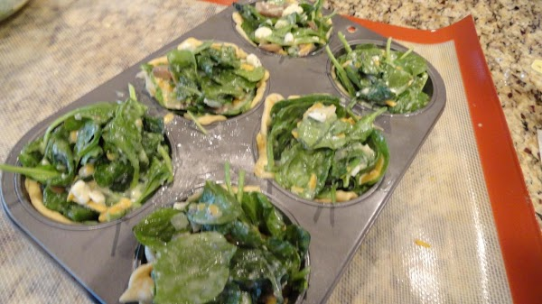 Pour mixture into each prepared muffin tin (put any leftover mixture in fridge). Bake...