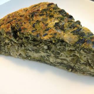 Spinach Cottage Cheese Pie.