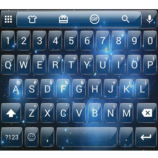Glass Space Emoji Keyboard