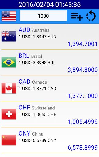 為替レート + 通貨換算