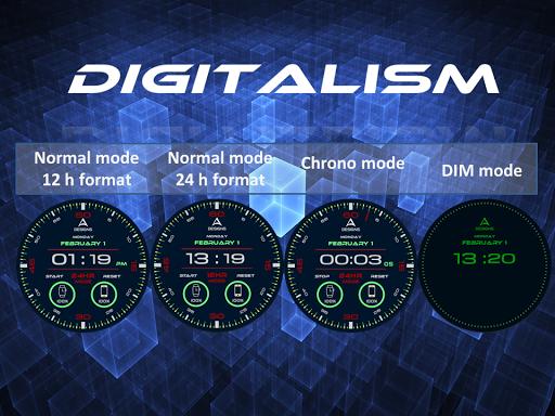 Digitalism Watch Face 1.0 screenshots 1