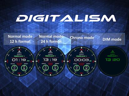 Digitalism Watch Face screenshot