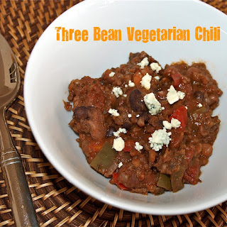 Three Bean Vegetarian Chili in the Slow Cooker.