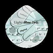 Light Blue Orb GO Keyboard