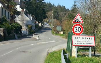 Photo: La côte de Beg Menez, réputée pour être une des plus dures du sud-Finistère.