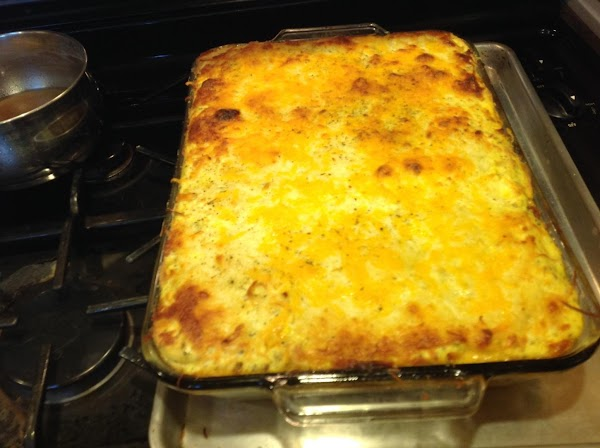 Remove from oven and allow to sit at least 25 minutes before cutting. Serve...