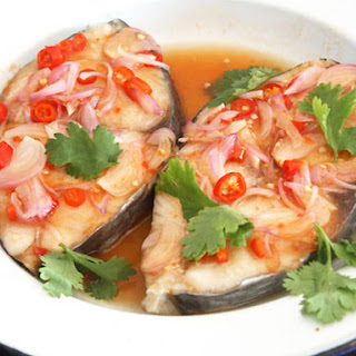 Thai-Style Sweet and Sour Steamed Fish.