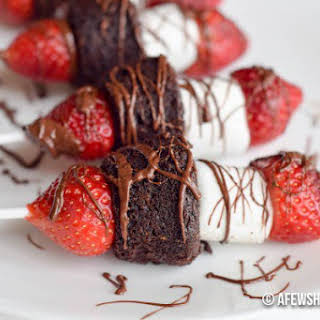Strawberry Brownie Dessert Kebab.