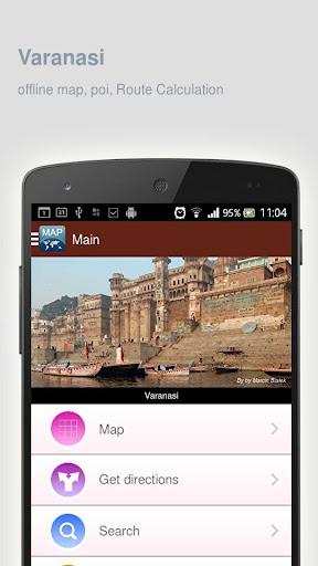 Varanasi Map offline