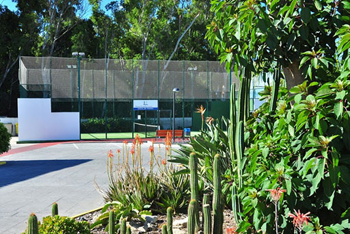 Paddle tennis court