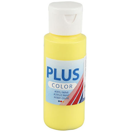 Hobbyfärg Plus color - gul, 60 ml