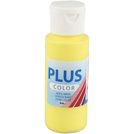 Hobbyfärg Plus color - gul, 60 ml