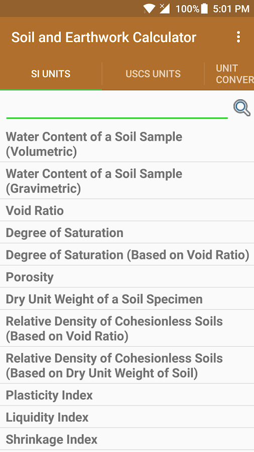 Soil and earthwork calculator android apps on google play for Soil unit weight