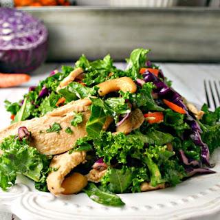Kale Cabbage Chicken Salad