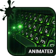 Green Light Animated Keyboard + Live Wallpaper
