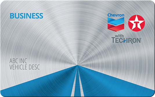 chevron texaco business card