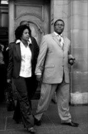Hearing Transnet boss Siyabonga Gama with wife. Pic: Peter Mogaki. 07/10/2009. © Sowetan.