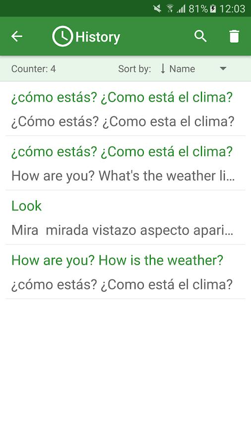 english to spanish translation dictionary google