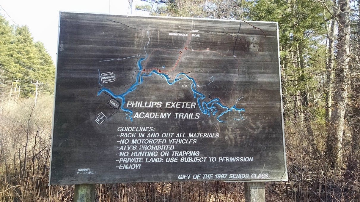 Phillips Exeter Academy Trail Map