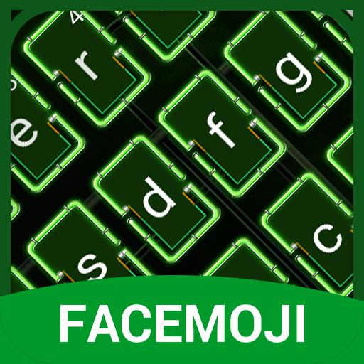 Neon Green Keyboard Theme & Emoji Keyboard
