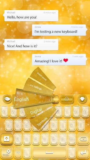 GO键盘金色闪粉