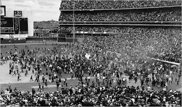 Photo: Fans engulf the field at Shea Stadium a few seconds after the New York Mets beat the Baltimore Orioles to win the World Series in Queens, N.Y., on Oct. 16, 1969. (AP Photo)