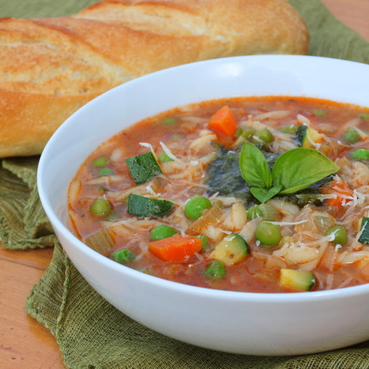 Summer Vegetable Soup with Pesto Recipe