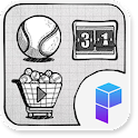 Tennis Sketch Launcher Theme icon