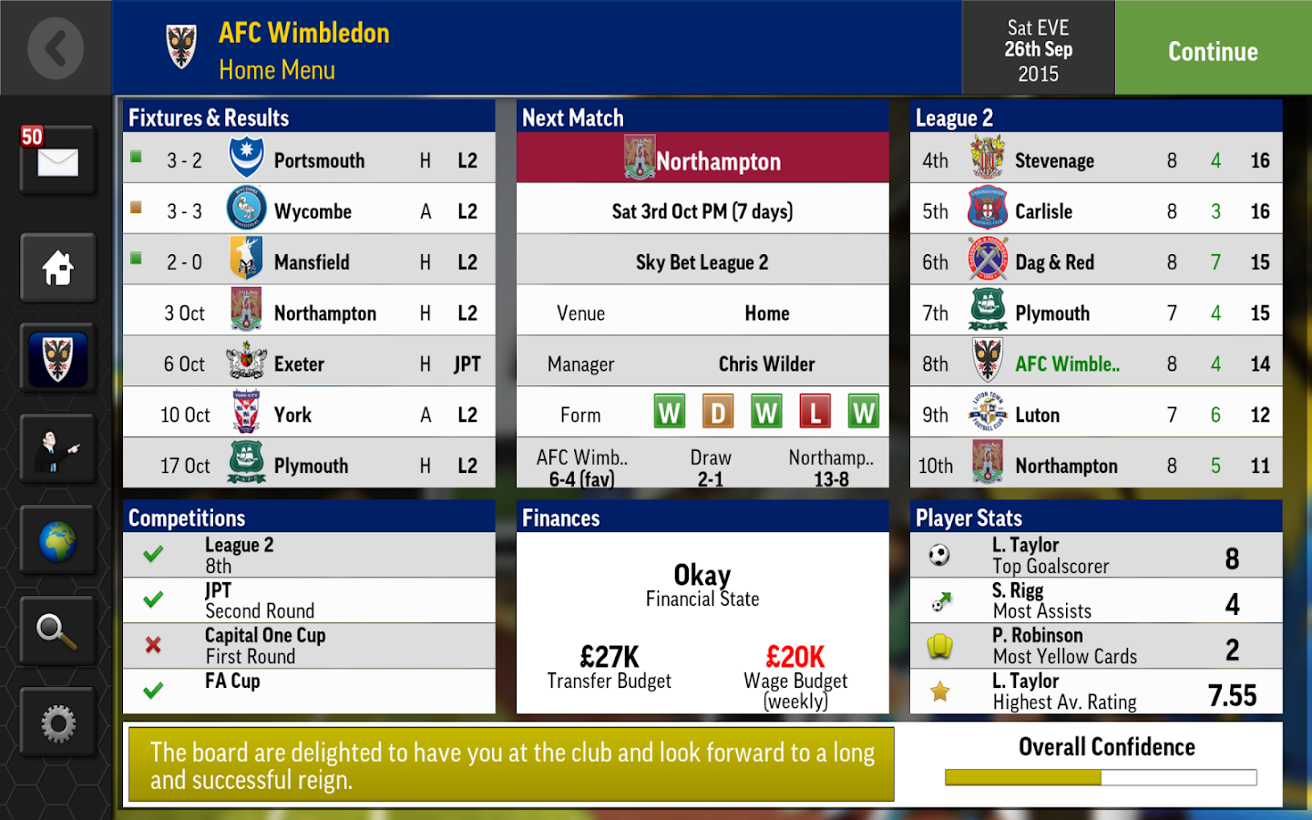 Football Manager Mobile 2016- screenshot