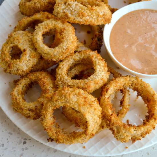 These Fun And Easy Air Fryer Onions Rings Are Flavor Packed And Perfectly Crispy Without All The Added Fat And Oil From Deep Frying.
