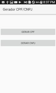 Gerador CPF-CNPJ - náhled