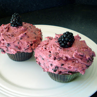 Chocolate Cupcakes with Blackberry Buttercream Recipe