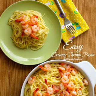 Easy Creamy Shrimp Pasta