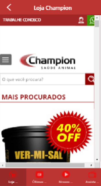 Champion Saúde Animal- screenshot
